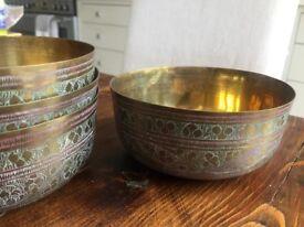 Vintage Indian Decorative Bowls