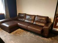 Brown quality leather sofa