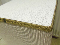 Bedside table shabby chic lloyd loom style