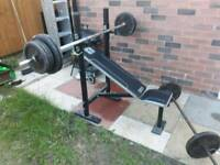 Folding bench and waight