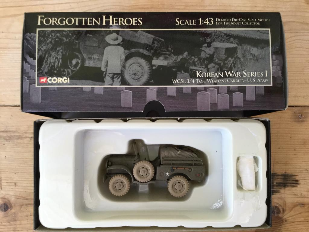 Die Cast Modelin Peacehaven, East SussexGumtree - Corgi Korean War Series 1 WC51.3/4 Ton.Weapons Carrier U.S.Army Scale 1 43 .New condition in original box