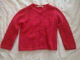 John Lewis Baby / Toddler Red Cardigan (size 2-3 years) As new