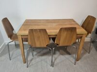 Dining table and chairs as seen - free to collect