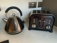Morphy Richards black and silver kettle