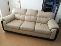 leather 3 seater