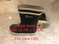 Aigle Boots for kids size 7.5 UK (25FR)