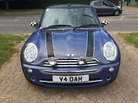 MINI ONE 1.6 Convertible, 2 doors, BLUE, Manual, Petrol, Very low 52296 miles , 12 months MOT