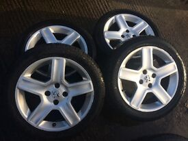 """CHALLENGER ALLOYS 17"""" TWO SET TO CHOOSE FROM ALL WITH GOOD TYRES -206-306-307-308 BERLINGO PARTNER"""