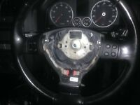 Mk5 2007 VW Golf multi function leather steering wheel and airbag