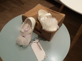 100% NEW Christening/ Wedding Scothen Princess Ballerina Shoes 5.5 UK £10.00 Kennington SE11 LONDON