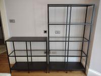 3 x Metal/Wood/Glass Shelves - Ikea Vittsjo