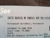 2x David Baddiel tickets Portsmouth Guildhall
