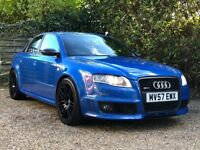 2007 (57) AUDI RS4 QUATTRO SALOON 4.2 V8 MANUAL | RARE SPRINT BLUE PEARL | A4 B7 NEW MOT | 4 OWNERS