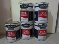 CROWN WHITE FULL GLOSS PAINTS 5X5 LITTERS