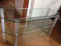 Large 3-tier Glass TV Stand
