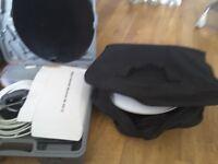 Portable satellite dishes