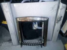 Marble fire place for sale colour cream and beige