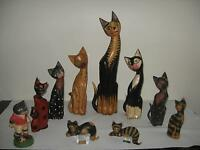 All kind of wooden cat made in Indonesia