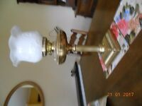 Brass oil lamp for sale