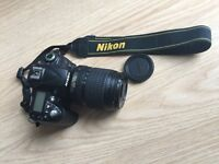 Nikon D90+lens 18-105mm. Good as new!