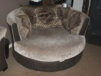 SOFA BED, CUDDLE COUCH, CHAIR & STORAGE FOOTSTALL