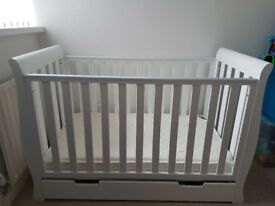 Obaby mini sleigh cotbed with mattress