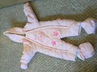 Gorgeous girls all in one puddle / snow suit age 3-6 months, in excellent condition