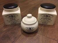 Charlotte Watson Tea, Coffee and Sugar Set