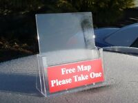 A4 LEAFLET HOLDERS - FREESTANDING
