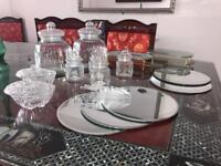Candy cart/sweet jars & display bowls
