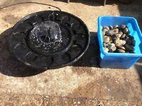 Peeble pool garden water feature
