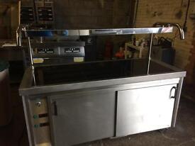 Heated servery & hotcupboard