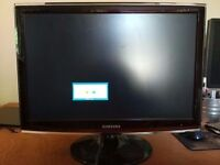 Samsung T220 22-inch Widescreen LCD TFT Monitor TV Television, for Desktop PC Computer
