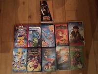 VHS Tapes - Disney, Star Wars, Pokemon