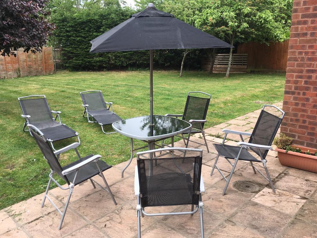 8 piece garden furniture set in yate bristol gumtree for Outdoor furniture gumtree