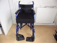 wheelchair for sale never been used fold up up easy to go in the car