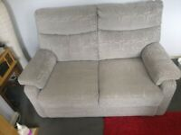 2 seater sofa and 2 electric reclining chairs