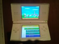 Nintendo ds lite,white with 8 girly games and charger.