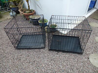 Dog cages suitable for small dogs cats rabbits etc choice of 2