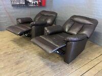 NICE ONE REAL LEATHER RECLINER SOFA ARM CHAIR VERY COMFY 79 POUND FREE DELIVERY