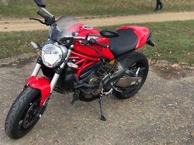 Ducati Monster 821 (2014/64) Red. Inc Bike Trac. 2900mi. 1 owner.