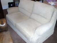 Two Seater Sofa & Armchair (with damage on sofa - see pic)