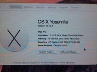 Mac Pro Desktop, 8 core, 16gb Ram, 1TB HD, 2008 (upgraded)