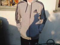 Adidas Essentials 3-stripe Full zip fleece hoodie