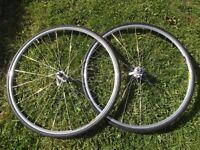 Vintage (NOS) Shimano 105 / Mavic Open Sport 700c Race Bike Wheels Racing Cycle Rims With New Tyres