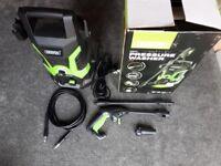 Draper 1300W Pressure Washer for Home Floor/Car Wash - Green