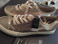 Brand new gold next trainers