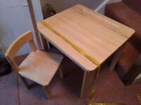 Kids childs desk and chair from John Lewis