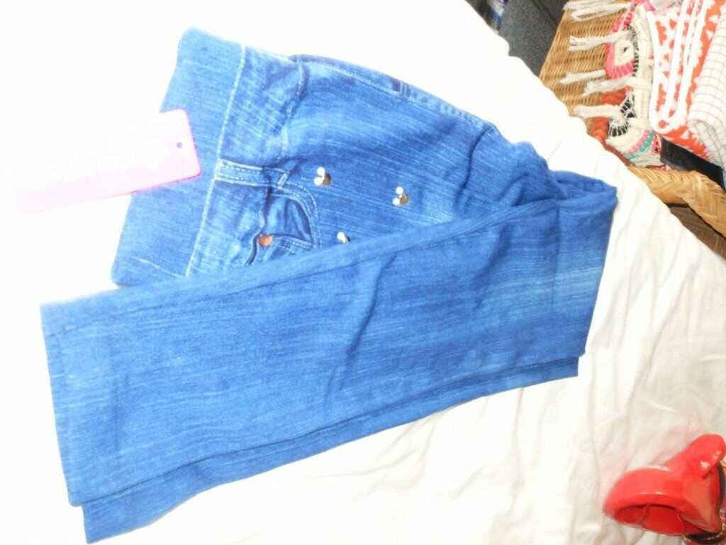 pair of ladies leggings brand new with tags blue indigo size 810 | in Moston, Manchester | Gumtree
