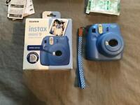 Fuji insta mini 9 camera - new! Cobalt blue colour